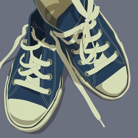 Art,for,Kids,Room,-,Lowtops,Blue,on,Gray,8x8,Square,Children,Print,digital,kitsch,retro,vintage,shoes,lowtops,blue,gray,art_for_kids_room,paper,computer