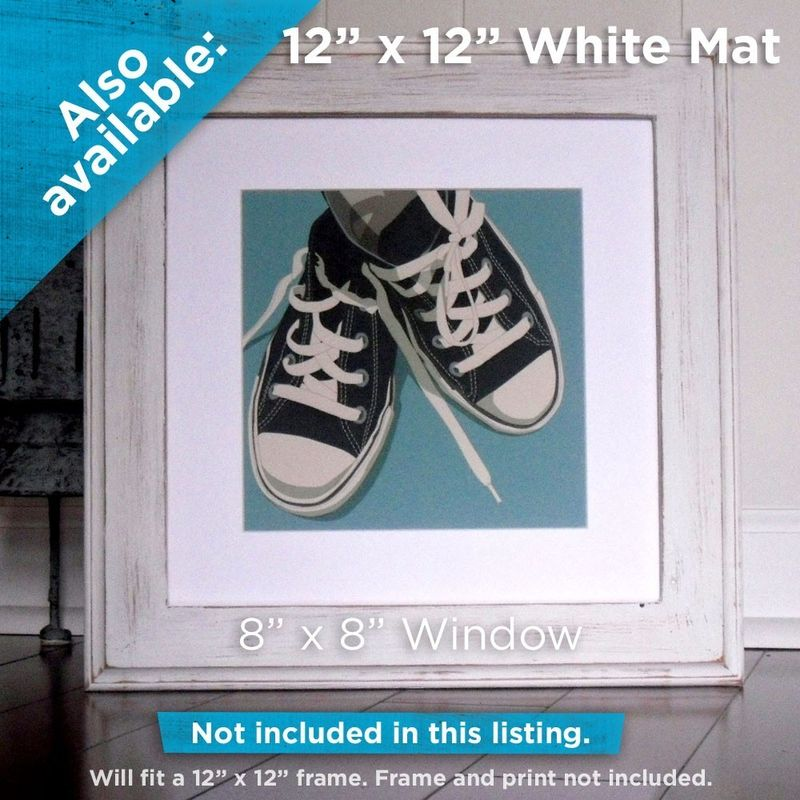 Art for Kids Room - Lowtops Blue on Gray 8x8 Square - product images  of