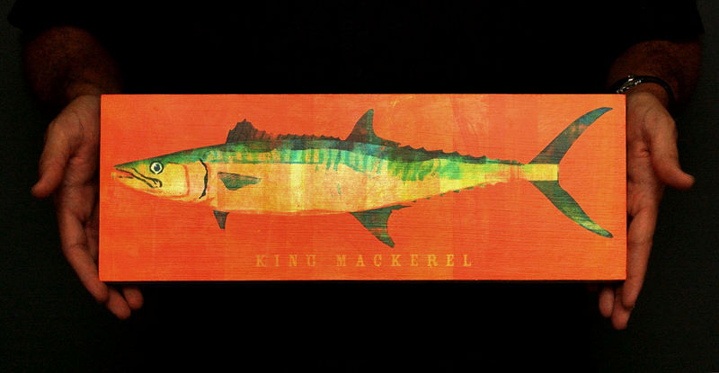Saltwater Fish Series - Fish Art  Block - Pick the Print - 6.5 in x 18 in - Great Fish Gift - product images  of