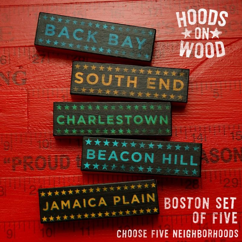 Boston Art Hoods on Wood - Five Art Block Set - Pick the Hoods - product images  of