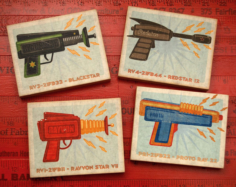 Raygun Art Blocks - Set of Four - 4 in x 5 in - product images  of