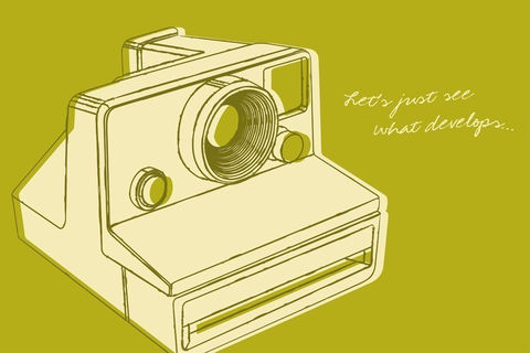 Instant,Camera,Art,-,Lunastrella,Print,8,in,x,12,Illustration,paper,print,color,cute,polaroid,instant,Instant_Camera_Art