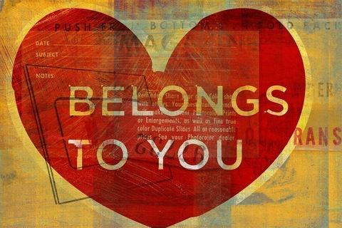 Belongs,to,You,Print,Art,Digital,valentine,love,illustration,collage,digital,card,paper,ink