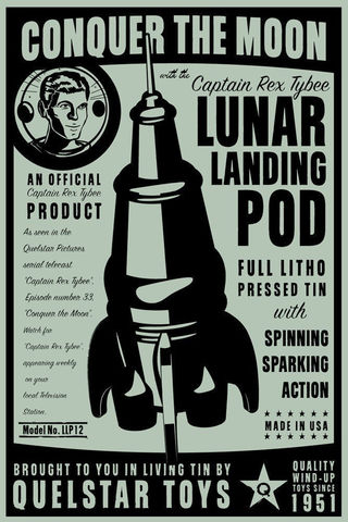 Lunar,Landing,Pod,Tin,Toy,Retro,Rocket,Box,Art,Print,8,in,x,12,Digital,digital,paper,print,cute,art,children,retro_rocket,tin_toy