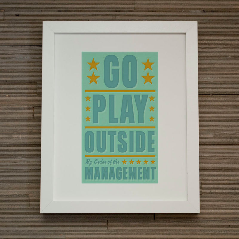 "Kids Room Decor - By Order of the Management - 4 in x 7 in - Pick Your Prints Set f Four - Fits 8"" x 10"" frame without a mat - product images  of"