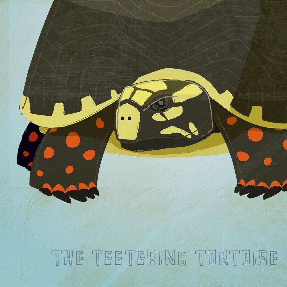 The Teetering Tortoise Print 8.5 In X 11 In