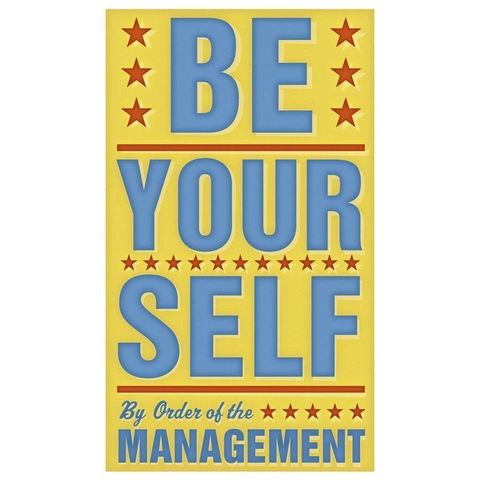 Be,Yourself,Print,6,in,x,10,Children,Art,art,illustration,print,digital,john_w_golden,be_yourself,yellow,sign,management,paper,computer