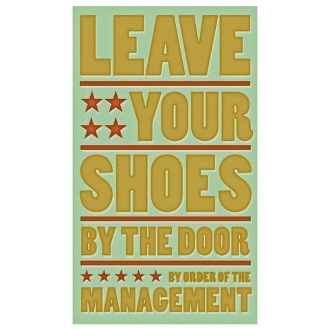 Leave,Your,Shoes,by,the,Door,Print,6,in,x,10,Art,Illustration,toddler,illustration,print,digital,parental,john_w_golden,shoe,green,mint,paper,computer