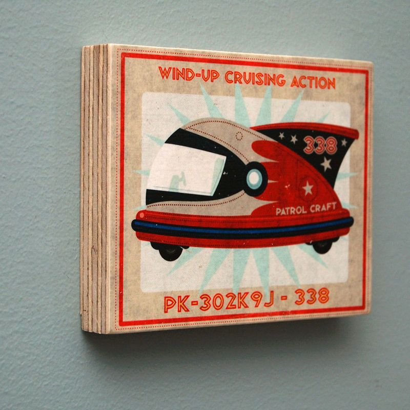 Rocket Racer Art Blocks - Set of Two - 4 in x 5 in - product images  of