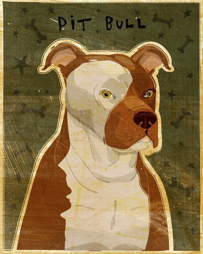 American Pit Bull Terrier Print 8 In X 10 In