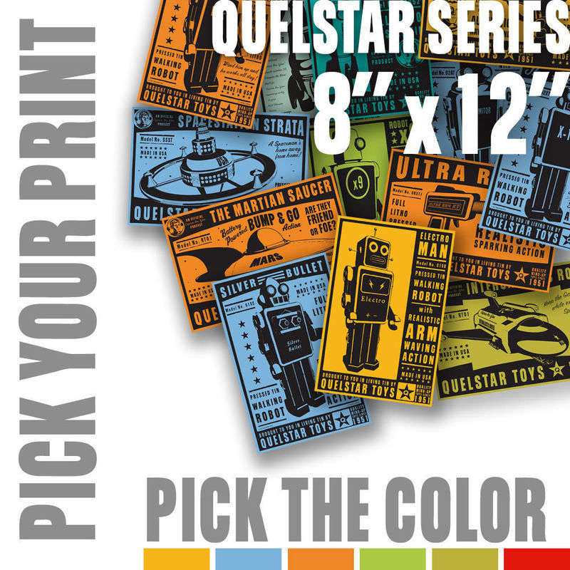 Sci Fi Art Quelstar Series Pick Your Print, Pick a Color - 8 in x 12 in - product images  of