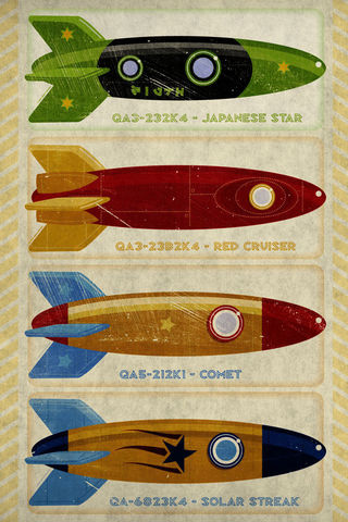 Retro,Rockets,Print,12,in,x,18,Art,Illustration,toddler,illustration,print,digital,john_w_golden,children,retro_rockets,paper,computer