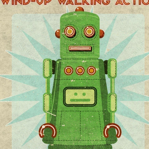 Robot,Print,Lois,Box,Art,8,in,x,10,Illustration,Digital,toddler,illustration,print,digital,please,john_w_golden,children,Robot_print,paper,computer