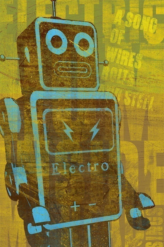 Robot Wall Art - A Song of Wires 6.67 in x 10 in Print - product images