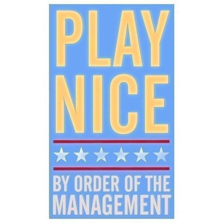 Play Nice 6 In X10 In Print