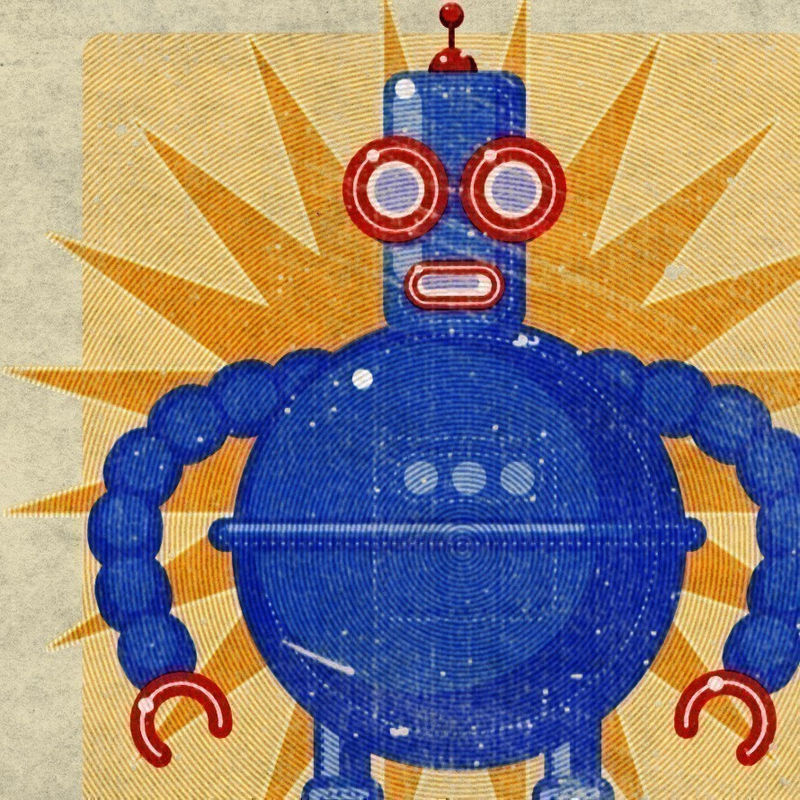 Boris Robot Box Art Print 8 In X 10 In
