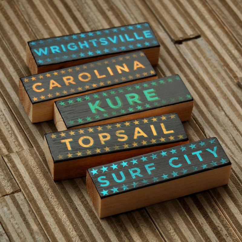 Beach Art - Beach Blocks - Five Art Block Set - Pick Your Beaches - product images  of