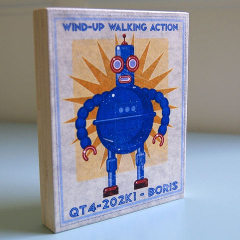 Robot,Art,-Tin,Toy,Box,Block,-,Pick,the,Print,4,in,x,5,Illustration,Digital,john_w_golden,illustration,digital,print,block,sci_fi,science_fiction,robot_art,paper,computer,wood,sealer