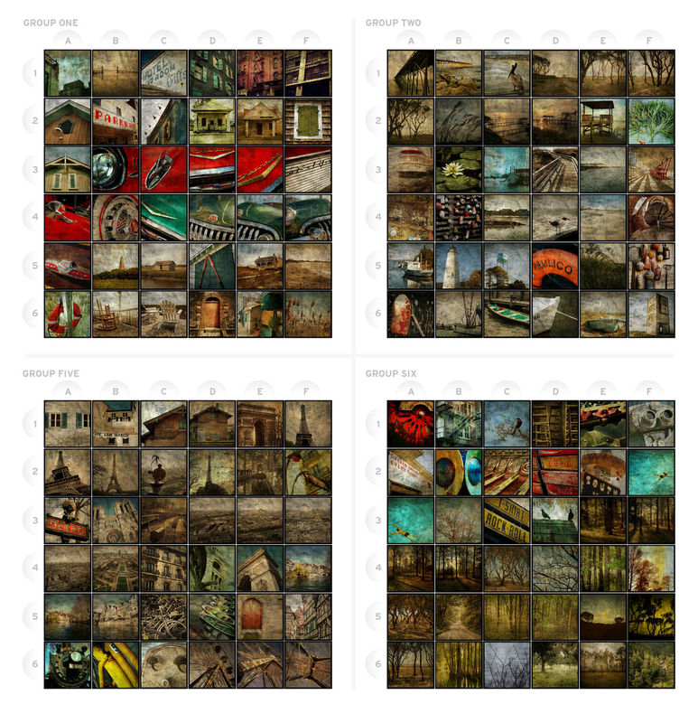 Photograpy - Rovinato Series 2 in x 2 in Art Blocks Set of Four - Pick the Prints - product images  of