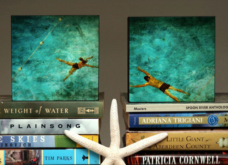 Swimming Pool Art - Rovinato Series Art Box Set of Two - Swimmers - product images  of