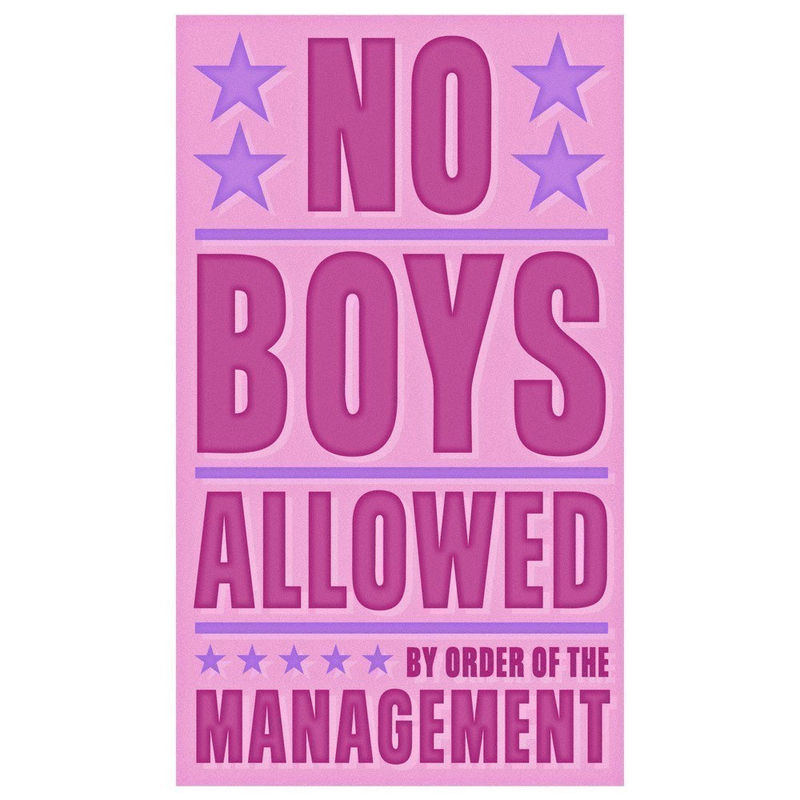 Girls Wall Art - No Boys Allowed Print 6 in x 10 in - product images  of