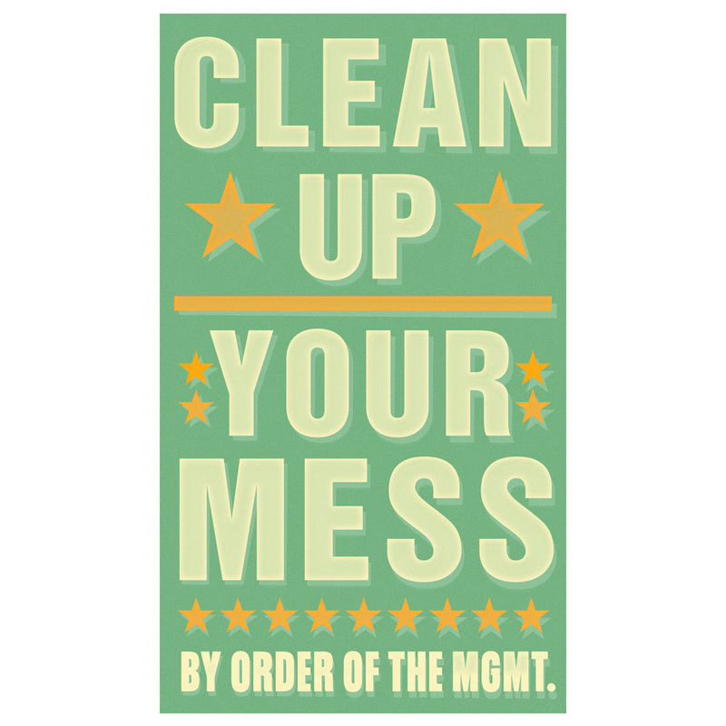 Art for Kids Room - Clean Up Your Mess Print 6 in x 10 in - product images  of