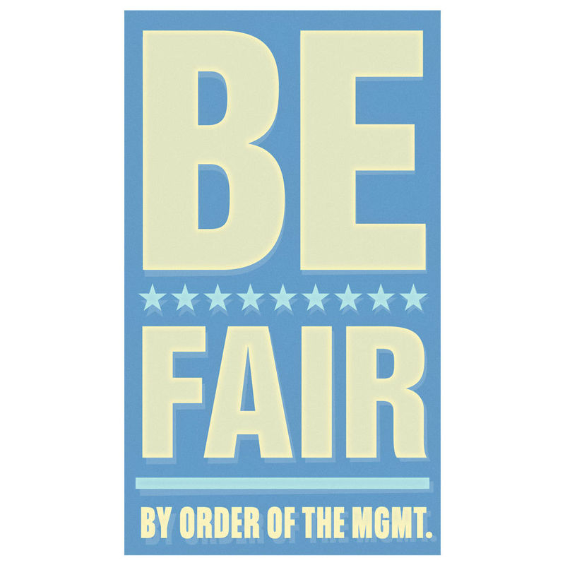 Art for Kids Room - Be Fair Print 6 in x 10 in - product images  of