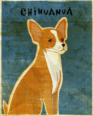 Chihuahua,Red,White,Print,8,x,10,Art,Illustration,digital,whimsical,cute,dog,animals,animal,chihuahua,paper,ink