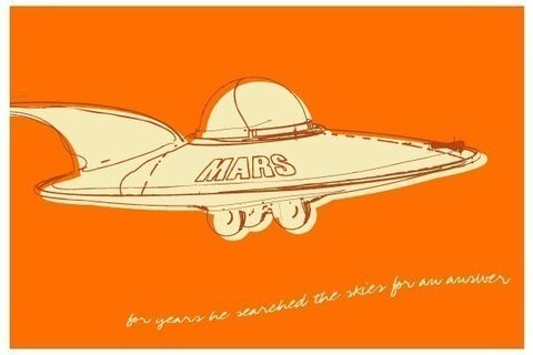 Lunastrella,Flying,Saucer,Print,8,in,x,12,Art,illustration,digital,flying_saucer,ufo,tin_toy,computer,paper