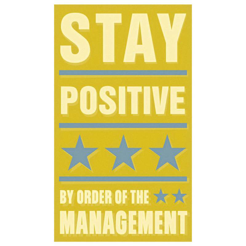 Art for Kids Room - Stay Positive Print 6 in x 10 in - product images  of