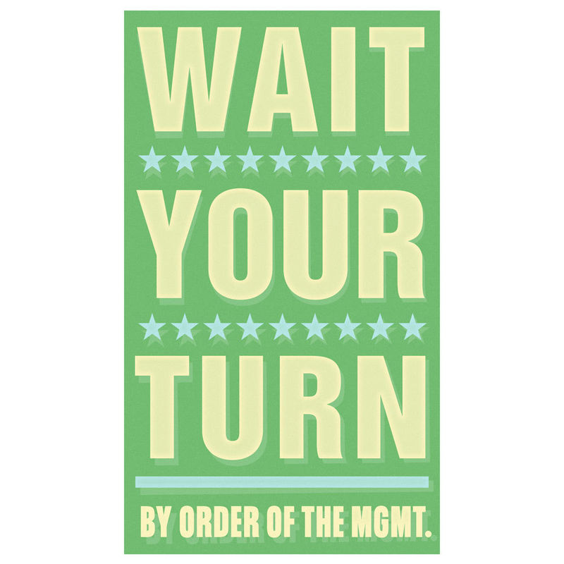 Art for Kids Room - Wait Your Turn Print 6 in x 10 in - product images  of