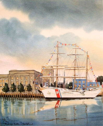 The,Eagle,limited,print,Eagle ship,Coast guard,sailing,ship,training ship,cape fear river,wilmington
