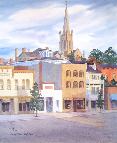 Second,Street,Limited,Edition,Historic Wilmington NC, First Presbyterian church, steeple,second st,St Thomas,DeRosset house