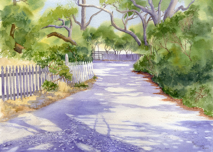 Lawton Lane on Ocracoke Island giclee print - product images