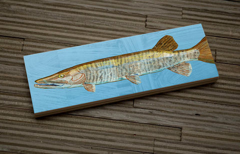Freshwater,Fish,Art,Medium,Block,-,Muskellunge,Print,9,in,x,3,Wall,Decor,Fisherman,Gift,Fathers,Day,for,Dad,Digital,Wood_Art_Block,Fish_Art_On_Wood,Fish_Wall_Decor,Fish_Wall_Art,Fish_Wall_Hanging,Fish_Illustration,Fish_Artwork,Freshwater_Fish_Art,Fathers_Day_Gift,Gift_For_Dad,Dad_Gift,muskellunge_art,wood,paper,ink,glue,sealer
