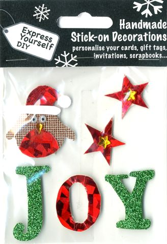 Bird,With,Stars,&,Joy,Lettering,Craft, Christmas, Toppers, Bird, Star