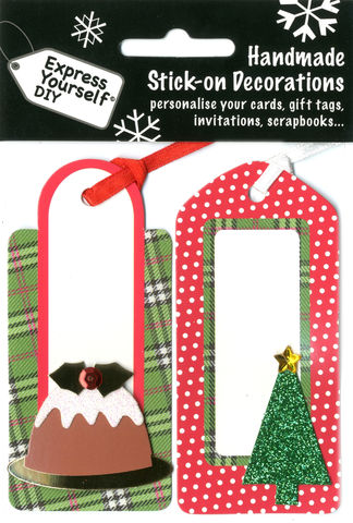Tags,With,Pudding,&,Tree,Craft, Christmas, Toppers, Tag, Tree, Pudding