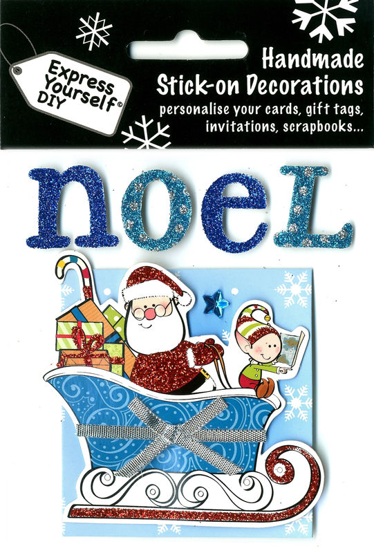 Noel Lettering With Sleigh & Santa - product images