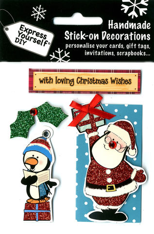 Santa,&,Penguin,Craft, Christmas, Toppers, Santa, Present, Penguin, Tag