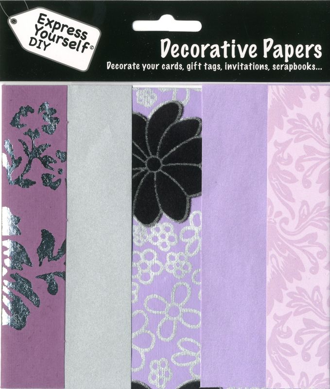 Lilac & Silver Papers - product images