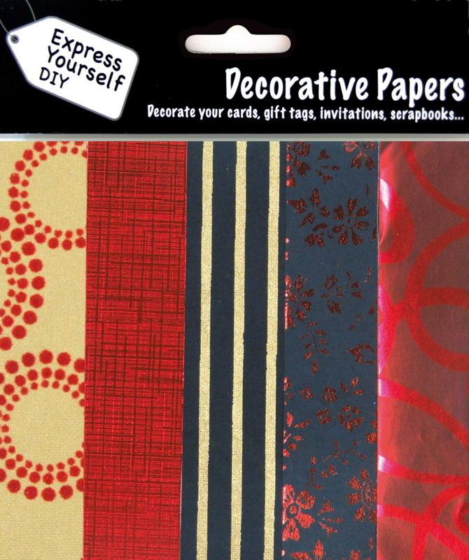 Black, Red & Gold Papers - product images