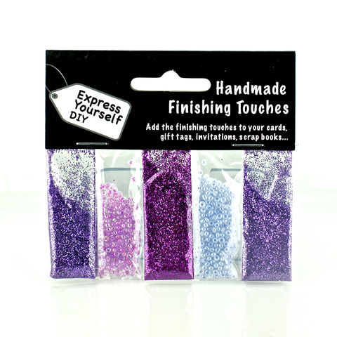 Lilac,Beads,&,Glitter,Craft, Sequins, Gliitter, Lilac, Beads, Finishing Touches