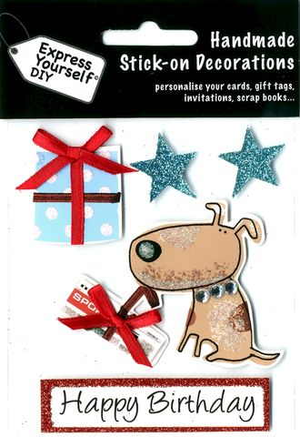 Dog,,Gift,&,Stars,Craft, Dog, Gift, Stars, Animal,Topper