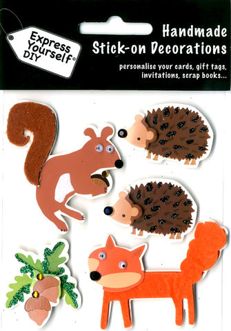 Forest,Animals,-,Fox,,Squirrel,&,Hedgehog,Craft, Fox, Squirrel, Hedgehog, Forest, Animal, Nuts, Topper