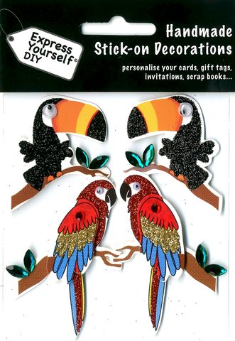 Toucans,&,Parrots,Craft, Toucans, Parrots , Topper