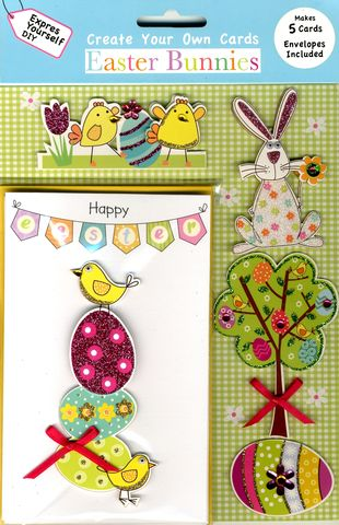 Box,Kits,-,Easter,Bunting,Craft, Easter, Chick, Egg, Bird, Bunting, Tree, Bunny, Box Kit