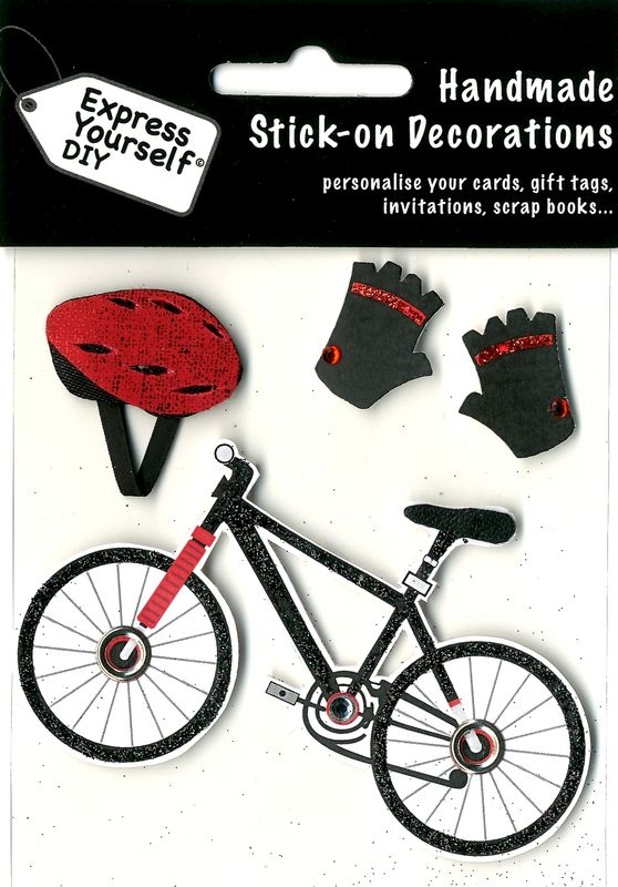 Bicycle, Helmet & Gloves - product images