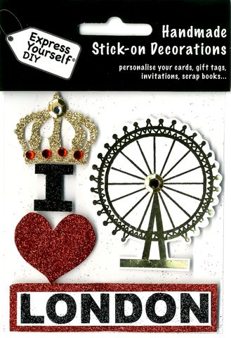 London,Icons,Craft, London Icons, wheel, Heart, Crown, Topper