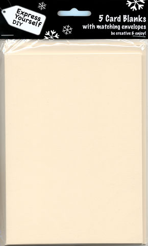 Cream,Blank,Cards,With,Gold,Envelopes,Craft, Cream, Card Blanks, large, Shaped
