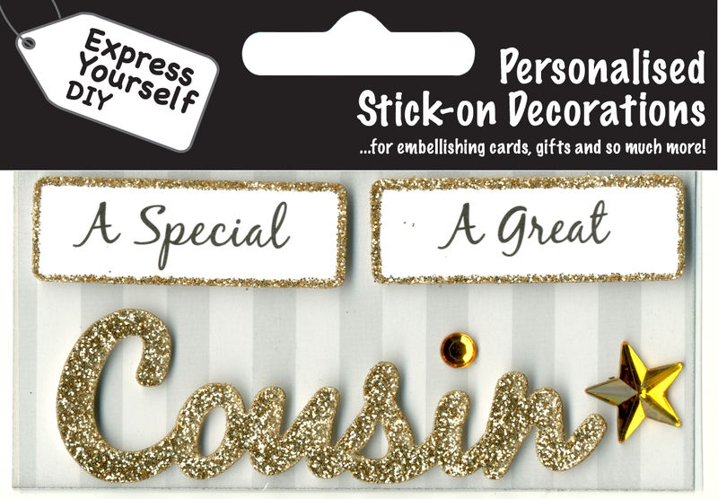 Make It Personal (Caption Topper) - Cousin (Gold) - product images